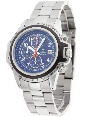 DETOMASO Herrenuhr Mantova Blue Dial Chronograph G-30817-D