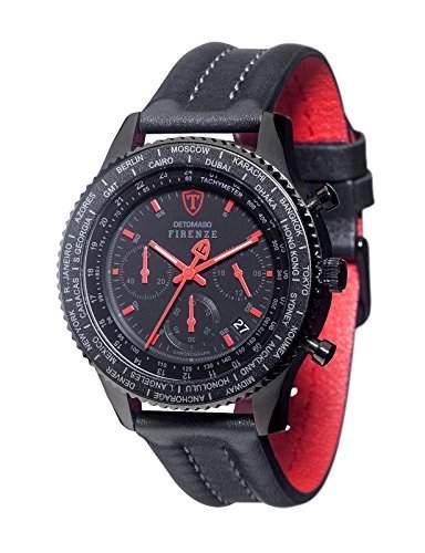 Detomaso Herren-Armbanduhr Firenze Chronograph Quarz Edelstahl SL1624C-RB