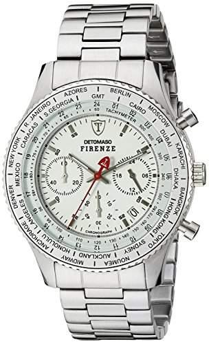 DETOMASO Herren-Armbanduhr FIRENZE Chronograph Quarz SM1624C-WH