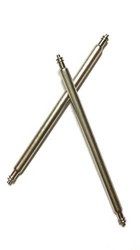 2 Paar FEDERSTEGE UHRENSTIFTE STIFTE WATCH Durchmesser 1 5 mm 23 mm breit
