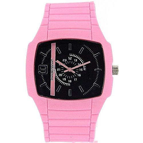 Pandemonium London Damen Freizeituhr mit rosa Armband und 24 Stunden Anzeige PL 121