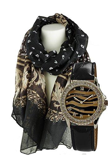 Elegantes Geschenk Set mit Damenschal Halstuch Schal klassisch