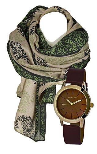 Klassisch elegantes Geschenk Set mit Damenschal Halstuch im paisley Design