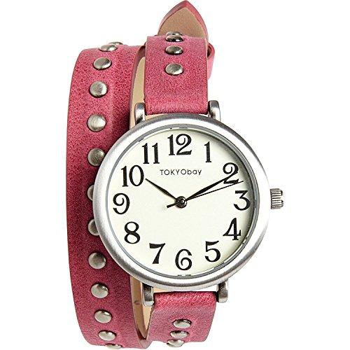Tokyo Bay TL427 RS Frauen Marron Lederband Weiss Dial Analog Watch
