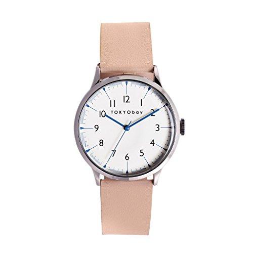 TokyoBay t339 be Damen Edelstahl beige Leder Band Weiss Zifferblatt Smart Watch