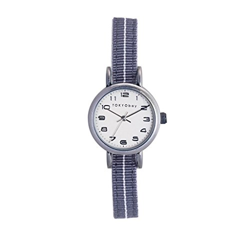 TokyoBay t394 gy Damen Edelstahl bicolor Nylon Band weiss Zifferblatt Smart Watch