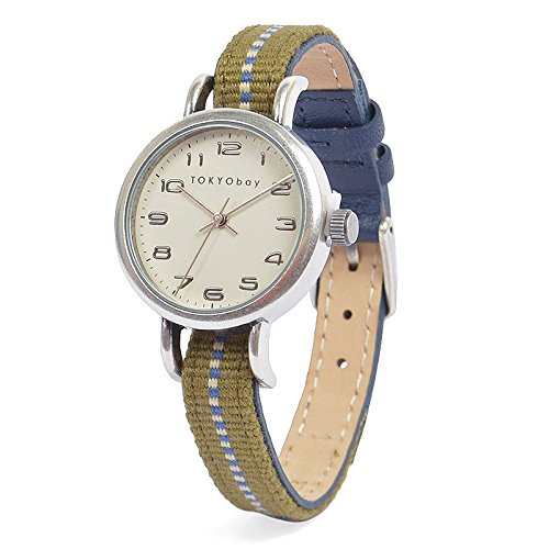 TokyoBay t394 nv Damen Edelstahl bicolor Nylon Band weiss Zifferblatt Smart Watch