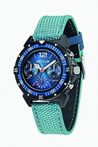 Sector Herren-Armbanduhr Analog Quarz Nylon R3251197032