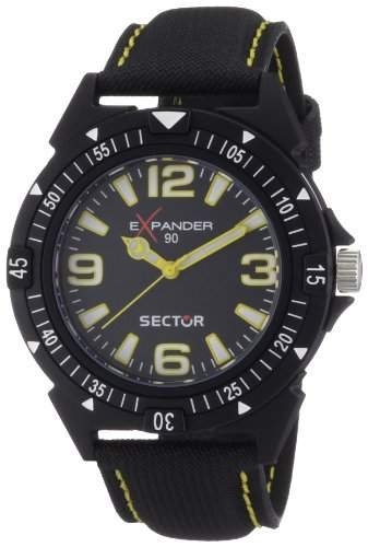 Sector Herren-Armbanduhr XL Expander 90 Analog Textil R3251197004