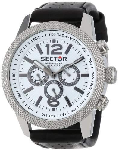 Sector Herren-Armbanduhr XL Overland Chronograph Leder R3251102004