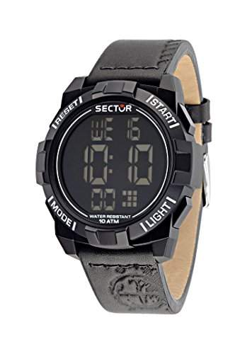 Sector Herren-Armbanduhr STREET FASHION Digital Quarz Leder R3251172046