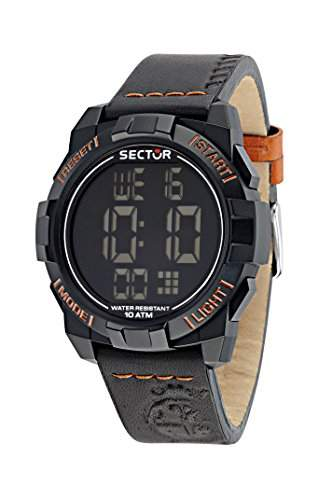 Sector Herren-Armbanduhr STREET FASHION Digital Quarz Leder R3251172047
