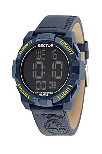 Sector Herren-Armbanduhr STREET FASHION Digital Quarz Leder R3251172050