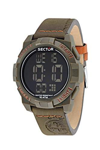 Sector Herren-Armbanduhr STREET FASHION Digital Quarz Leder R3251172051
