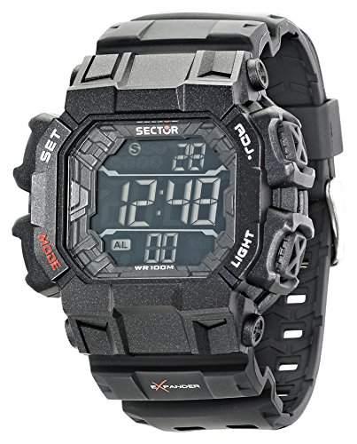 Sector Herren-Armbanduhr XL Digital Quarz Kautschuk R3251172920
