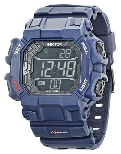 Herren-Armbanduhr XL Digital Quarz Kautschuk R3251172921