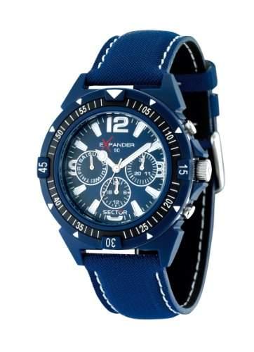 Sector Herren-Armbanduhr EXPANDER 90 Chronograph Quarz Textil R3251197006