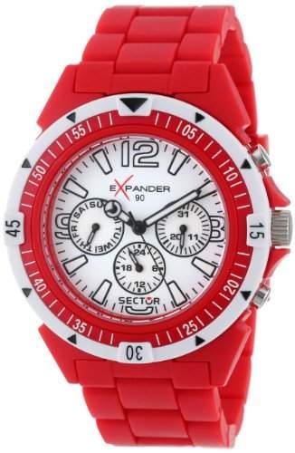 Sector Herren-Armbanduhr XL Expander 90 Chronograph Plastik R3251197010