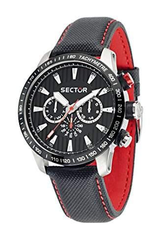 Sector Herren-Armbanduhr 850 Chronograph Quarz Leder R3251575008