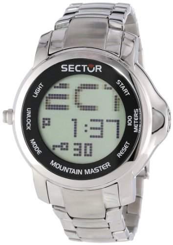 Sector Herren-Armbanduhr XL Digital Edelstahl R3253121025