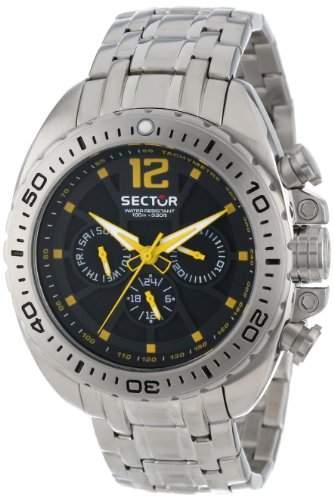 Sector Herren-Armbanduhr XL 600 Chronograph Quarz Edelstahl R3253573001