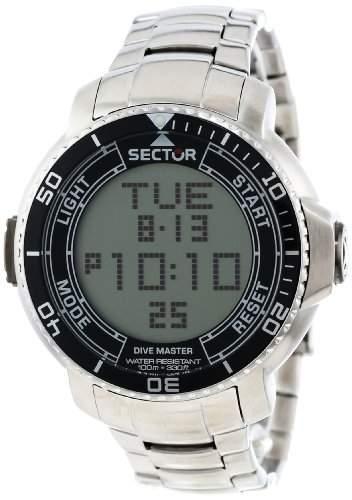 Sector Herren-Armbanduhr Digital Quarz Edelstahl R3253967001