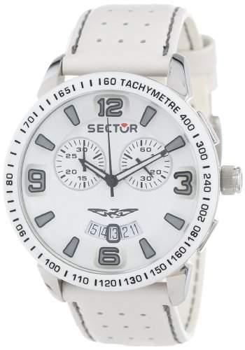Sector Herren-Armbanduhr XL 400 Chronograph Leder R3271619001