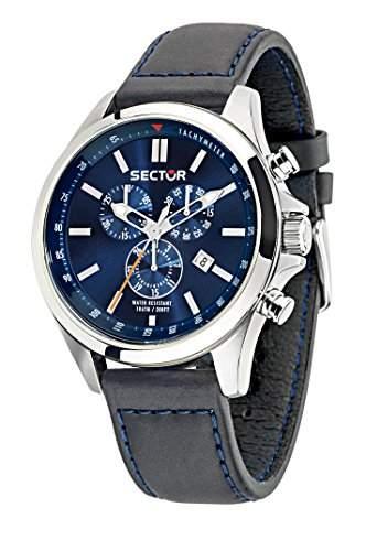 Sector Herren-Armbanduhr 180 Chronograph Quarz Leder R3271690014