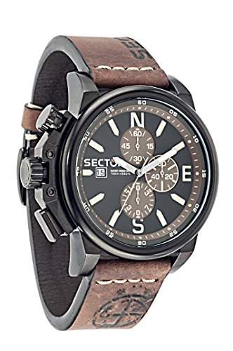 Sector Herren-Armbanduhr 450 Chronograph Quarz Leder R3271776007