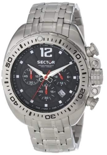 Sector Herren-Armbanduhr XL 600 Chronograph Quarz Edelstahl R3273573002