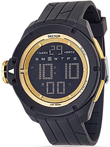 Sector Expander Street Fashion Digital Mann schwarz Gold R3251589003 zu sehen