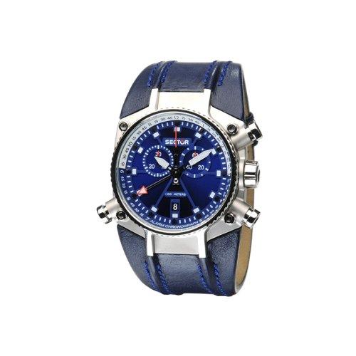 Sector Herren Armbanduhr Chronograph Quarz Leder R3271695135
