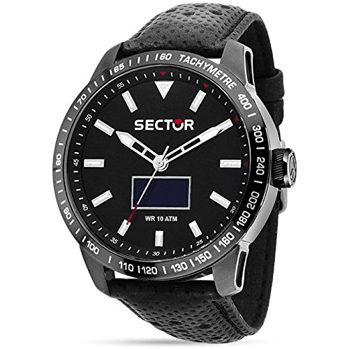 Sector Uhr 850 Smart Watch schwarz Leder R3251575010