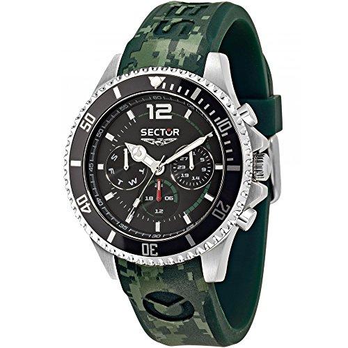 Sektor Watch 43 mm 230 gruen Multifunktions Marine R3251161024