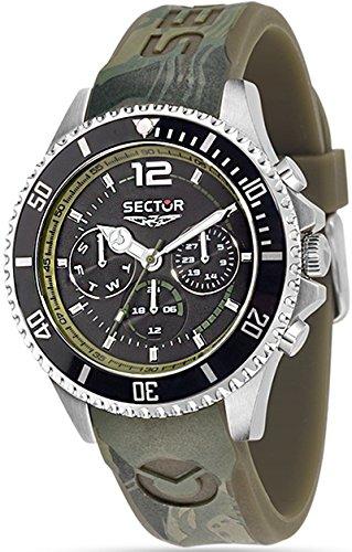 Sektor Watch 43 mm 230 braun Multifunktions R3251161023 Marine