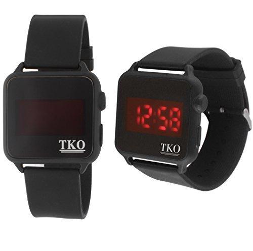 Gesichtslose Touchscreen LED Digital schwarz quadratisch Fall Gummi Sport Leicht zu lesen grossen Nummer Cool watch
