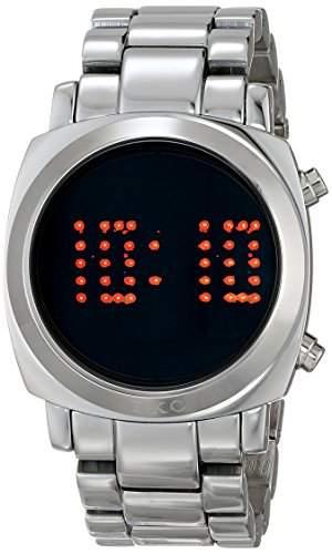 TKO ORLOGI Frauen TK574-S Digi-Metal Silber Metall LED Watch