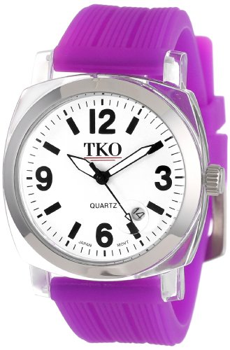 TKO ORLOGI Frauen TK558 WPR Milano Junior Acrylic Case White Dial Uhr