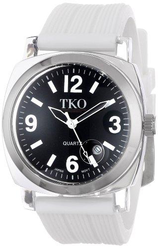 TKO ORLOGI Frauen TK558 WT Milano Junior Acrylic Case Black Dial Uhr