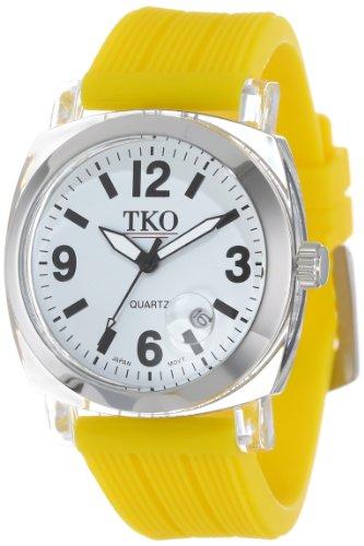 TKO ORLOGI Frauen TK558 WY Milano Junior Acrylic Case White Dial Uhr