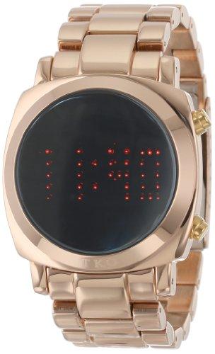 TKO ORLOGI Frauen TK574 RG Digi Metal Rose Gold Metall LED Watch