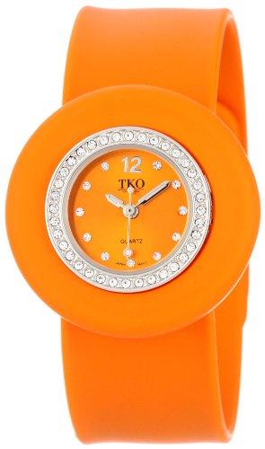TKO ORLOGI Frauen TK598 OR Slapper Ice Mini Kristall Luenette Slap Uhr