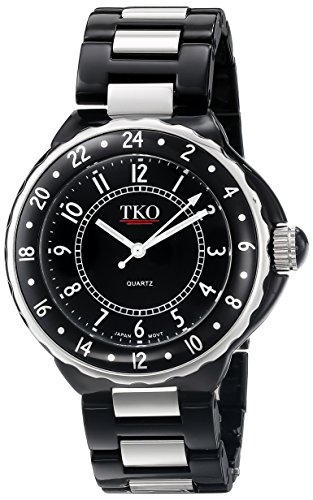 TKO ORLOGI Frauen TK570 BK Keramik Stahl Kunststoff Gehaeuse und Armband Uhr