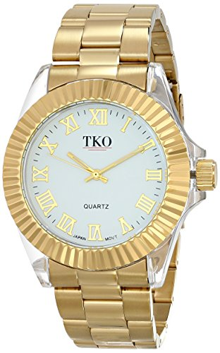 TKO ORLOGI Frauen TK606 G Luxe Acrylic Case Gold Metal Armbanduhr