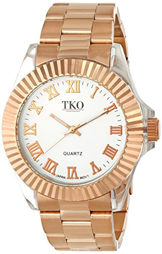 TKO ORLOGI Frauen TK606 RG Luxe Acrylic Case Rose Gold Metall Armbanduhr