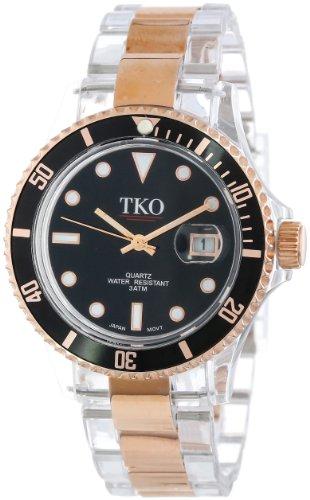 TKO ORLOGI Frauen TK500 RB Venezia Stahl Rosegold Kunststoff Case und Armband Uhr