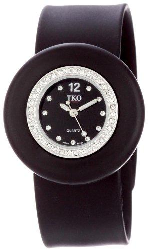 TKO ORLOGI Frauen TK598 BK Slapper Ice Mini Kristall Luenette Slap Uhr