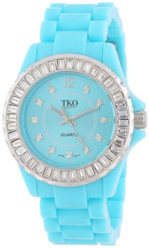 TKO ORLOGI Frauen TK608 TQ Ceramix Ice Turquoise Acryl Crystallized Uhr