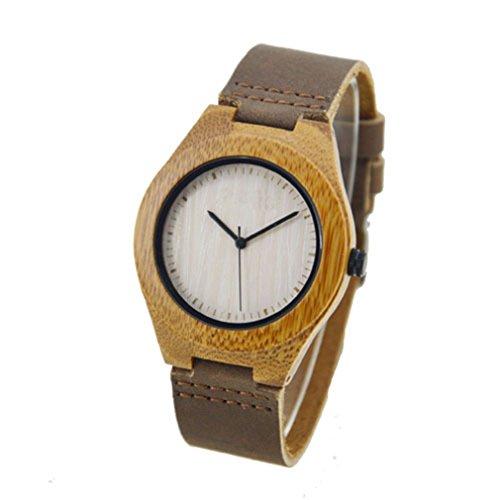 Uhr aus Holz zs 105b Armband aus Leder EGLEMTEK TM