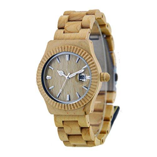 Uhr aus Holz zs 064 a Weiss EGLEMTEK TM